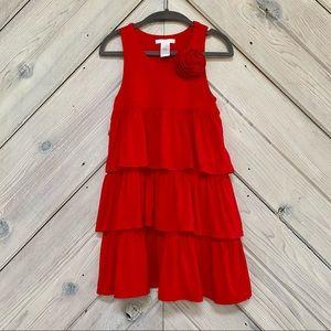 Janie and Jack Red Ruffle Dress